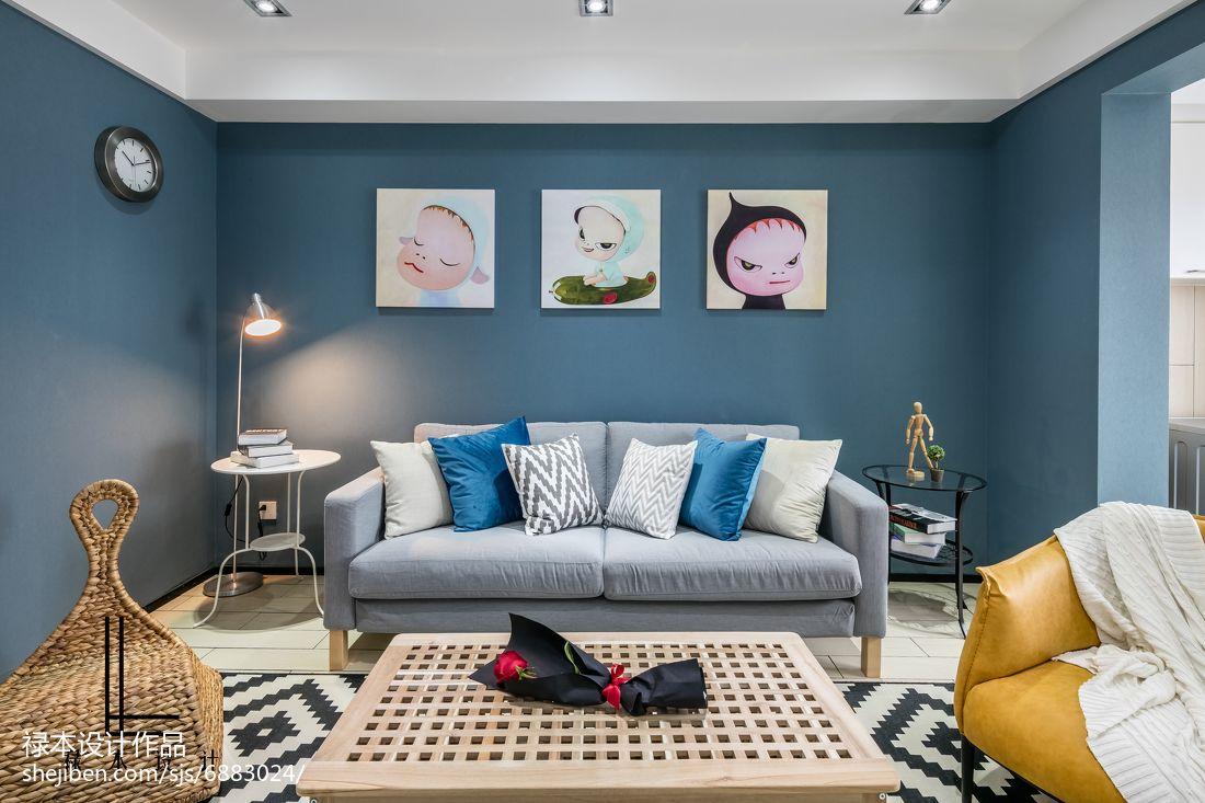 2018面积86平现代二居客厅欣赏图