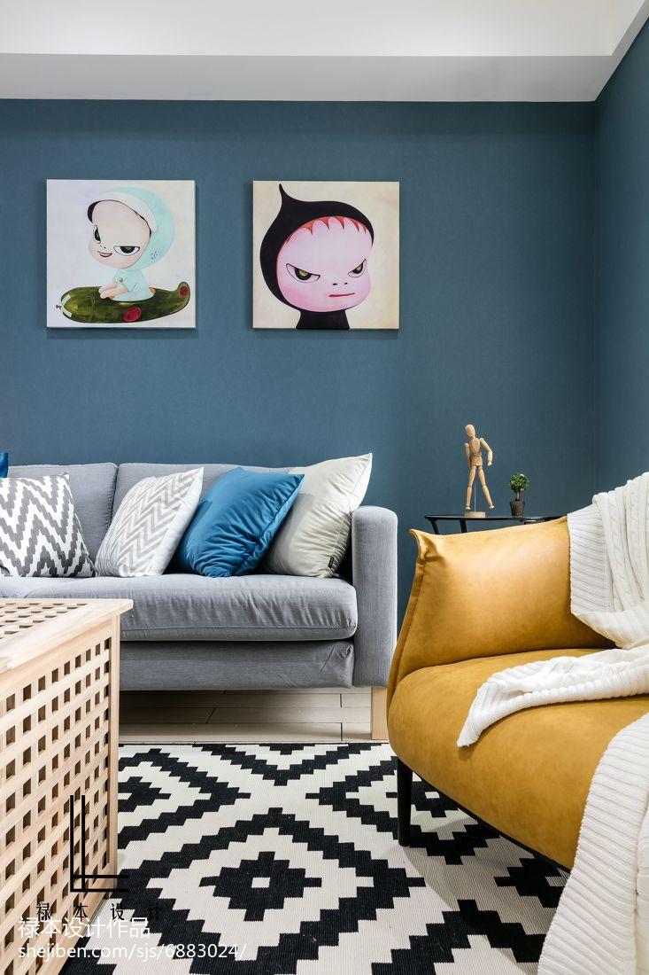 精美大小71平现代二居客厅装饰图