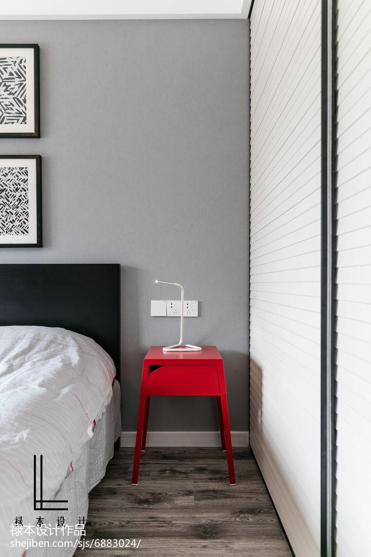 面积88平现代二居卧室装饰图片大全