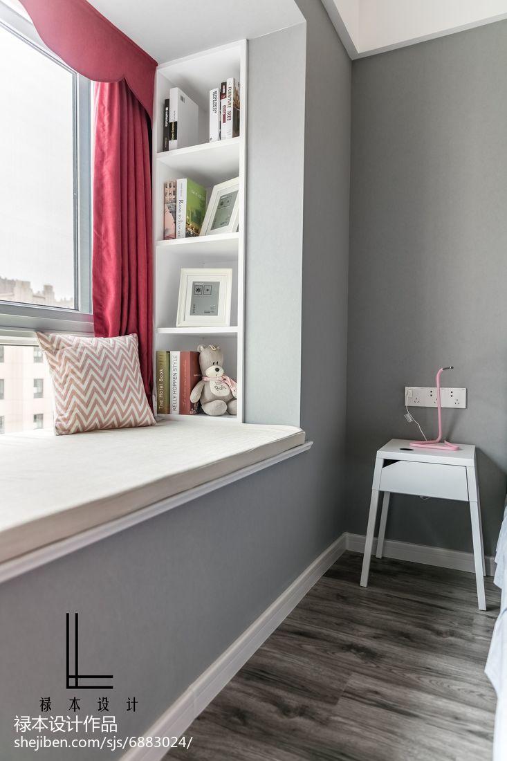 2018精选大小78平现代二居卧室装修效果图