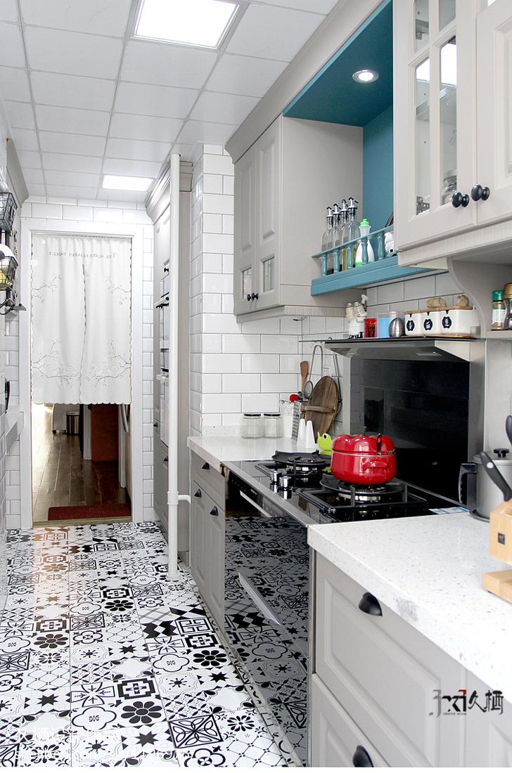 質樸78平美式二居廚房裝修設計圖