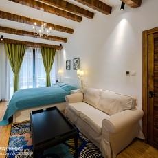 精美面积133平复式卧室混搭装修实景图片欣赏