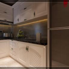 2018精选面积96平欧式三居厨房效果图片