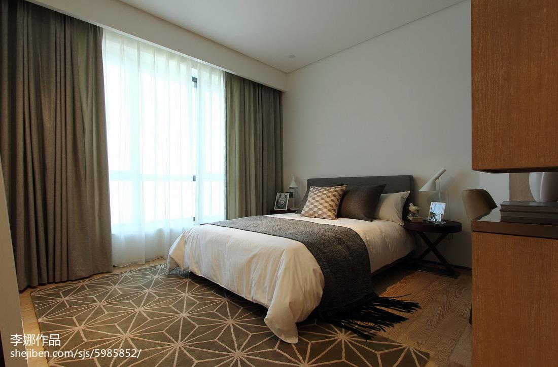 精选面积97平现代三居卧室效果图