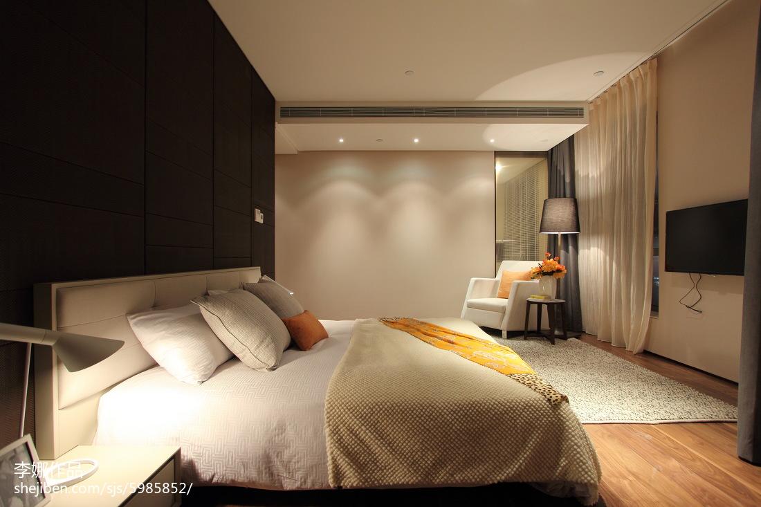 新中式风格舒适卧室装修图