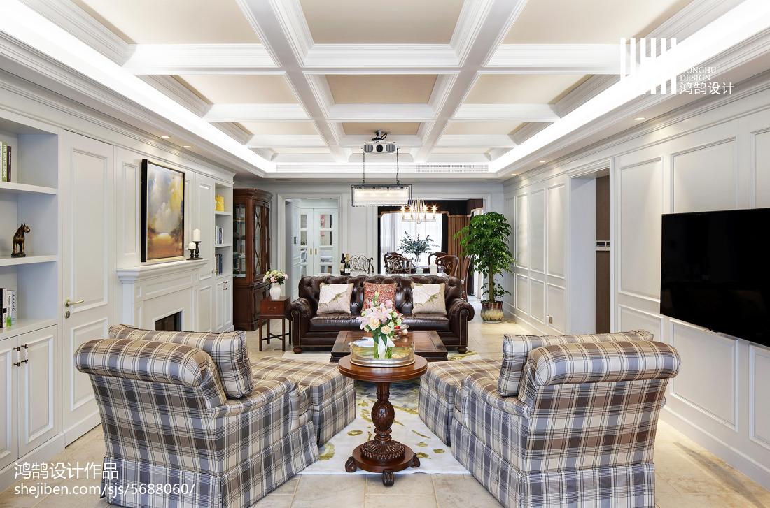 热门137平米美式别墅客厅效果图片