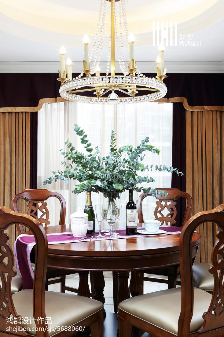 热门面积125平别墅餐厅美式效果图片大全