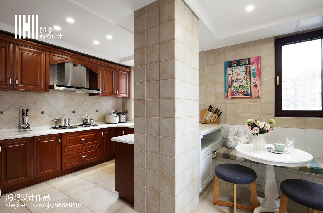 热门别墅厨房美式装修效果图片大全