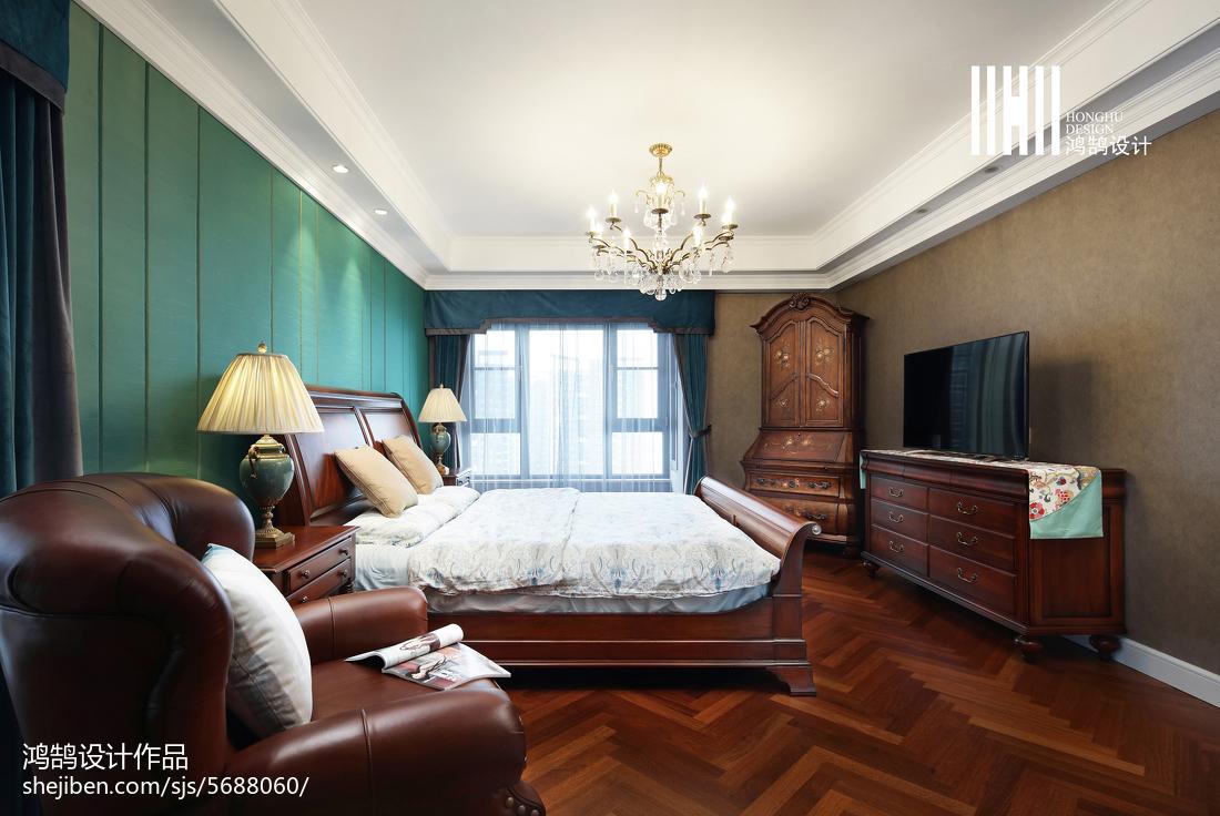面积114平别墅卧室美式装修图片欣赏