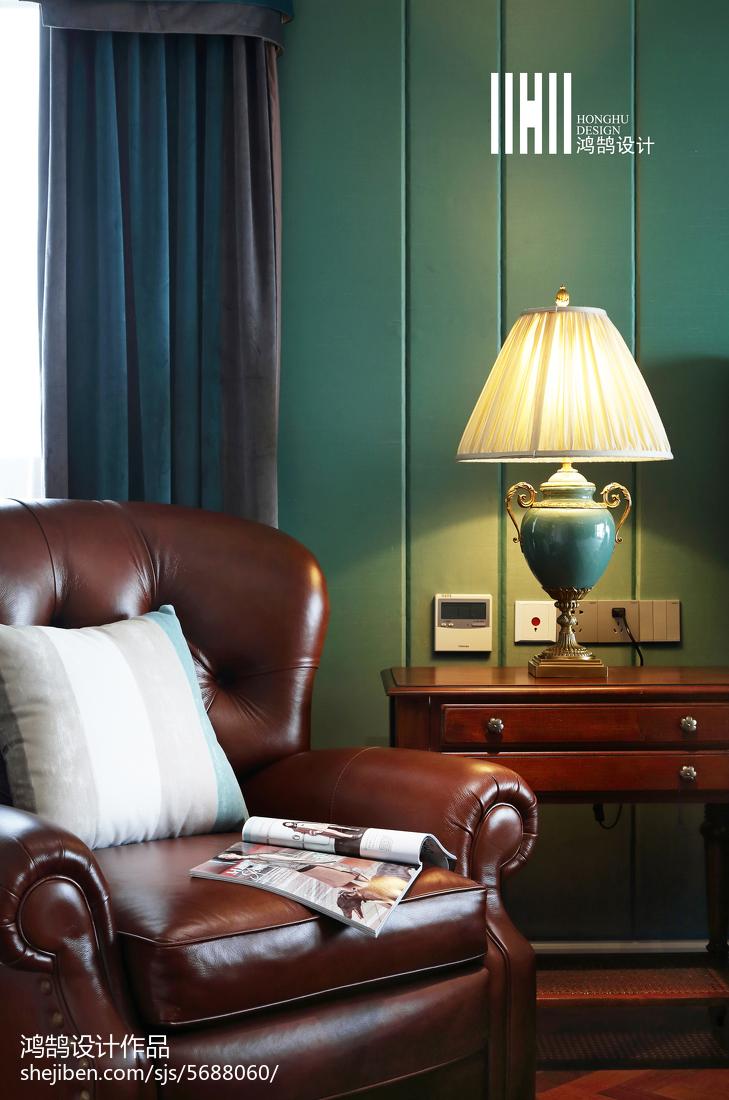 面积141平别墅卧室美式装修图