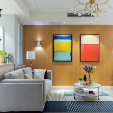 明亮100平现代二居客厅装修美图