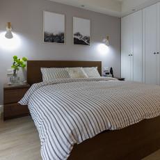 轻奢78平现代二居卧室图片大全