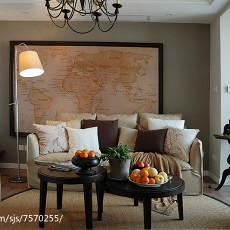 热门90平米三居客厅简约装修实景图片