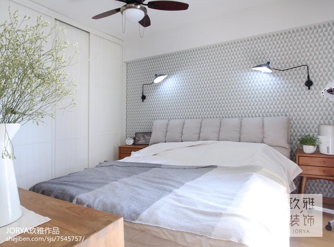 83平米北欧小户型卧室装修图片欣赏