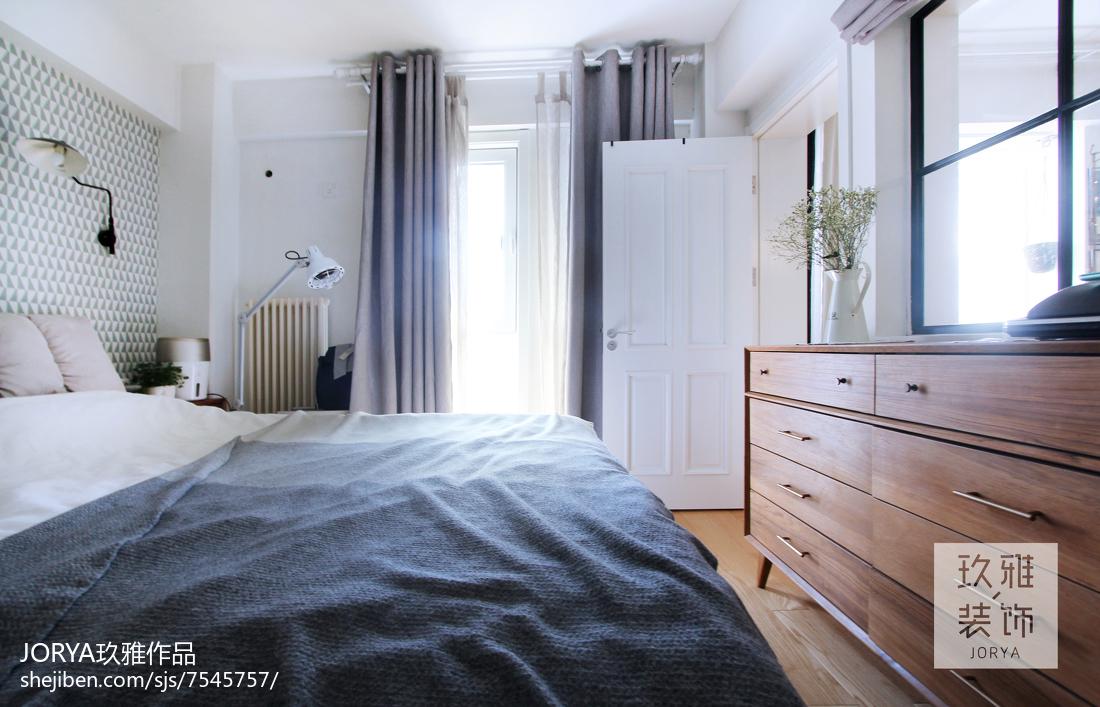 2018精选90平米北欧小户型卧室装修实景图片大全