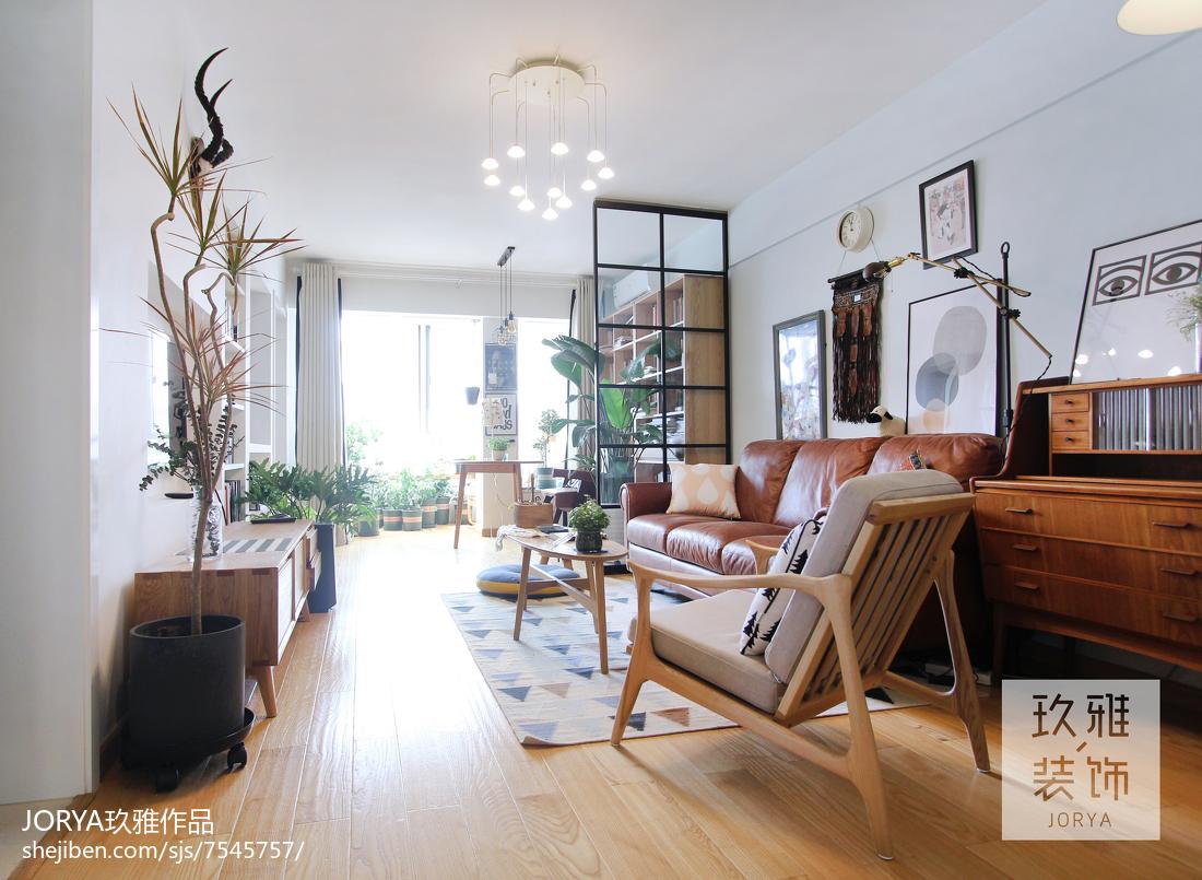 精选面积71平小户型客厅北欧欣赏图片