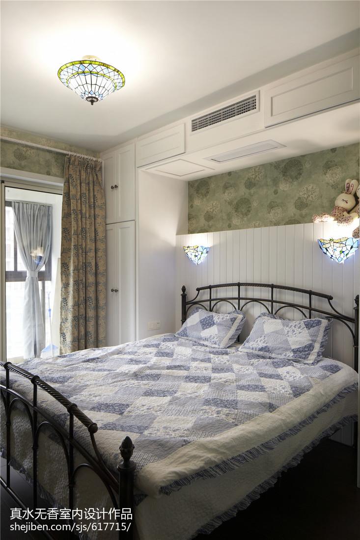 热门100平米三居卧室地中海实景图片大全