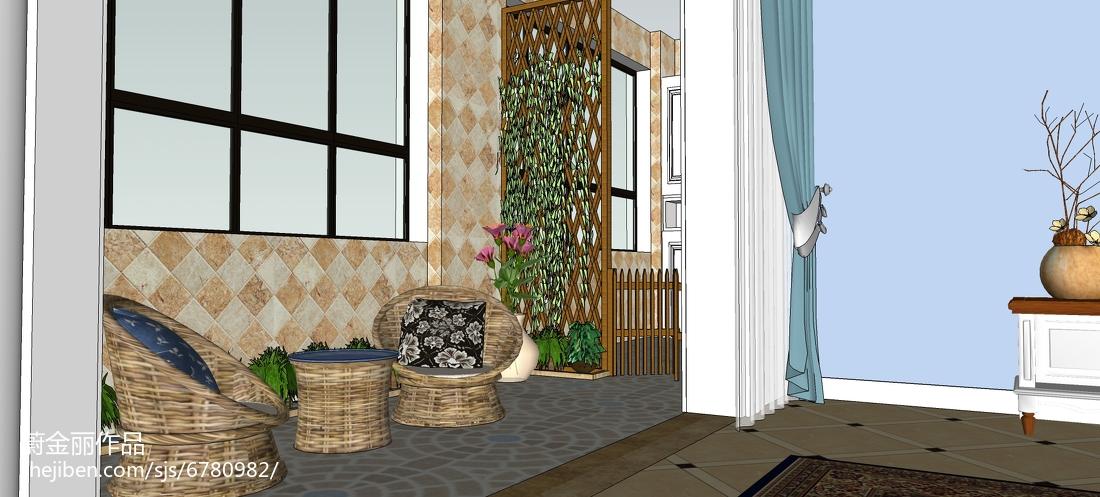 简约时尚个性三居室装修效果图