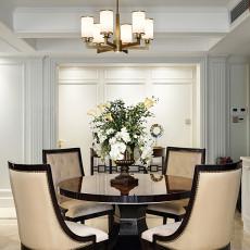 精美面积95平美式三居餐厅实景图
