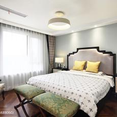 面积109平美式三居卧室效果图片大全
