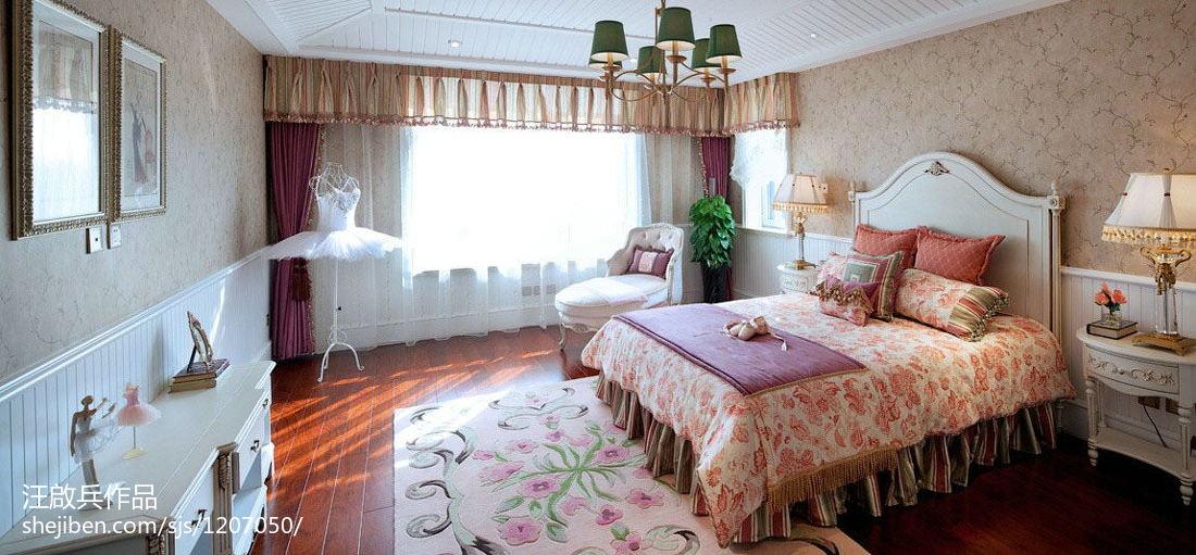 经典优雅新古典风格卧室装修效果图