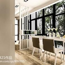 2018精选79平米现代小户型餐厅装修设计效果图