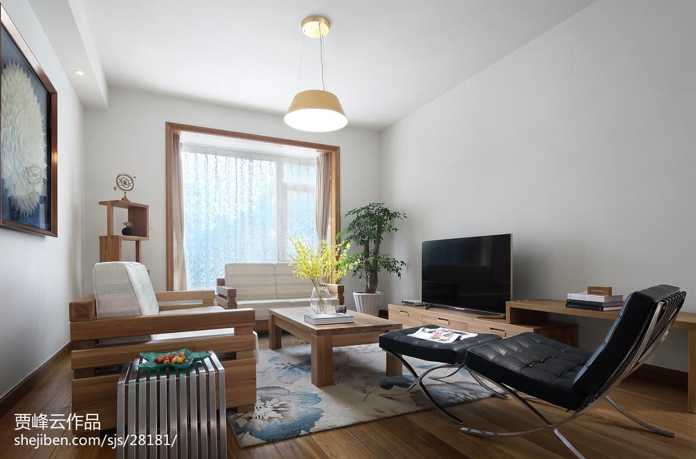 2018面积135平别墅客厅北欧装修实景图片