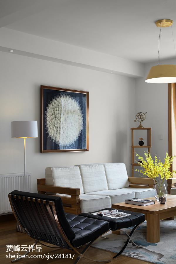 2018面积119平别墅客厅北欧装修实景图片大全
