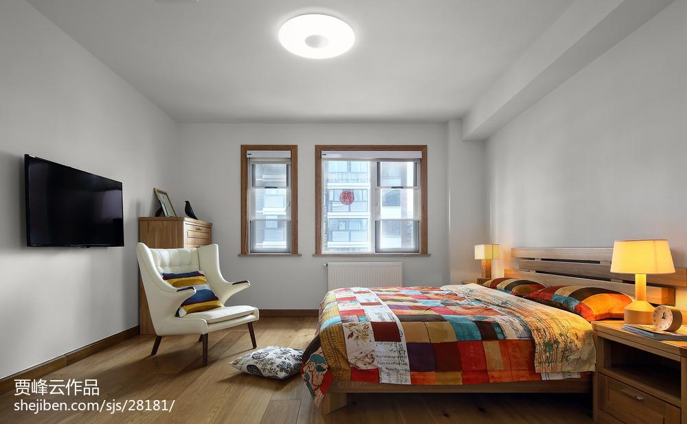 热门137平米北欧别墅卧室效果图