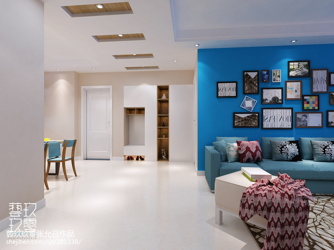 经典优雅新古典风格三居室装修效果图