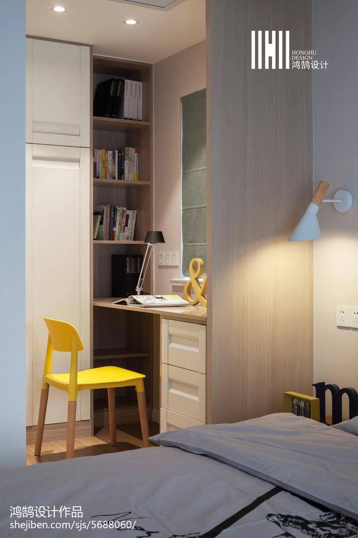 精选107平米三居卧室北欧欣赏图片大全