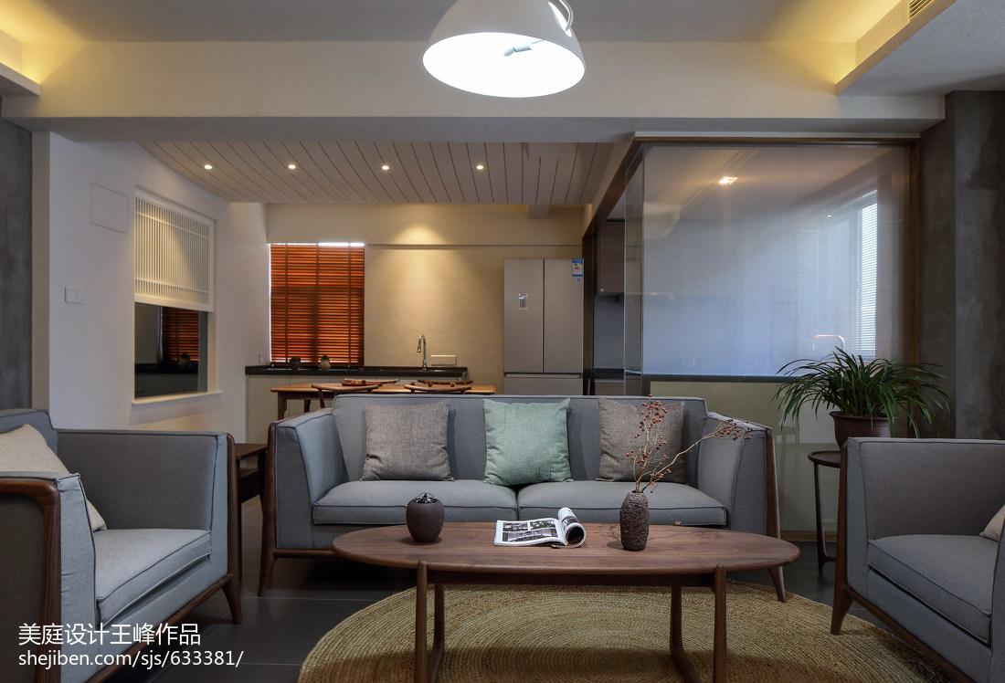 热门面积106平中式三居客厅装修实景图片欣赏