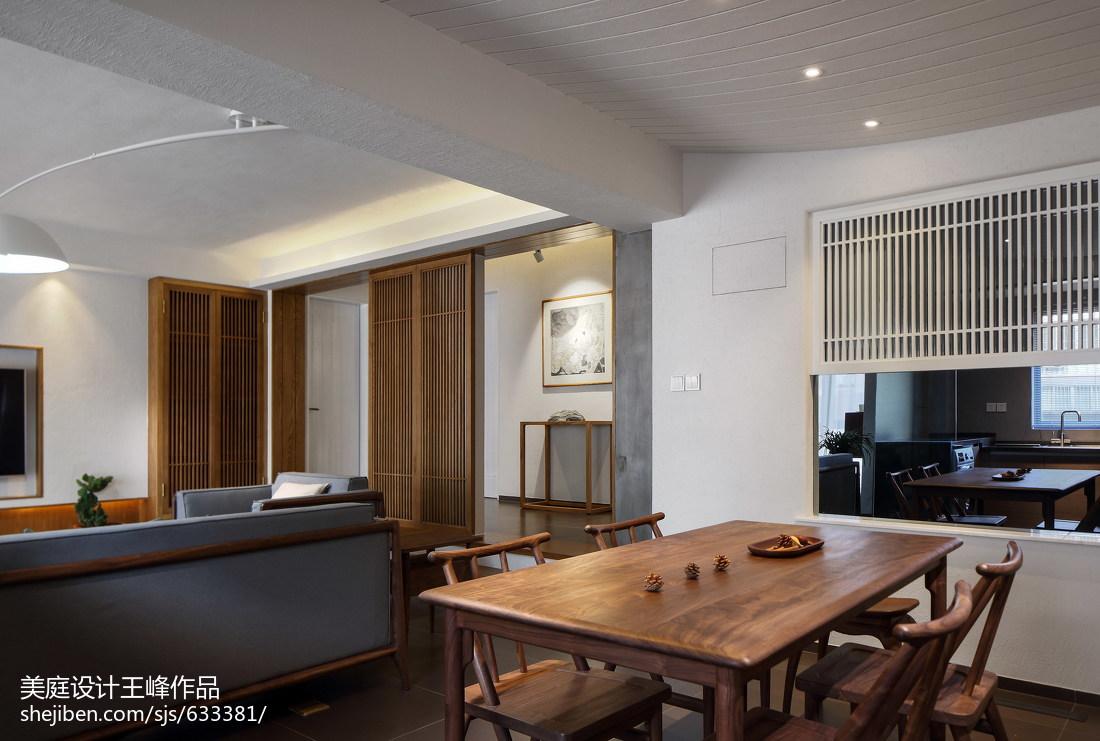 悠雅117平中式三居餐厅设计效果图