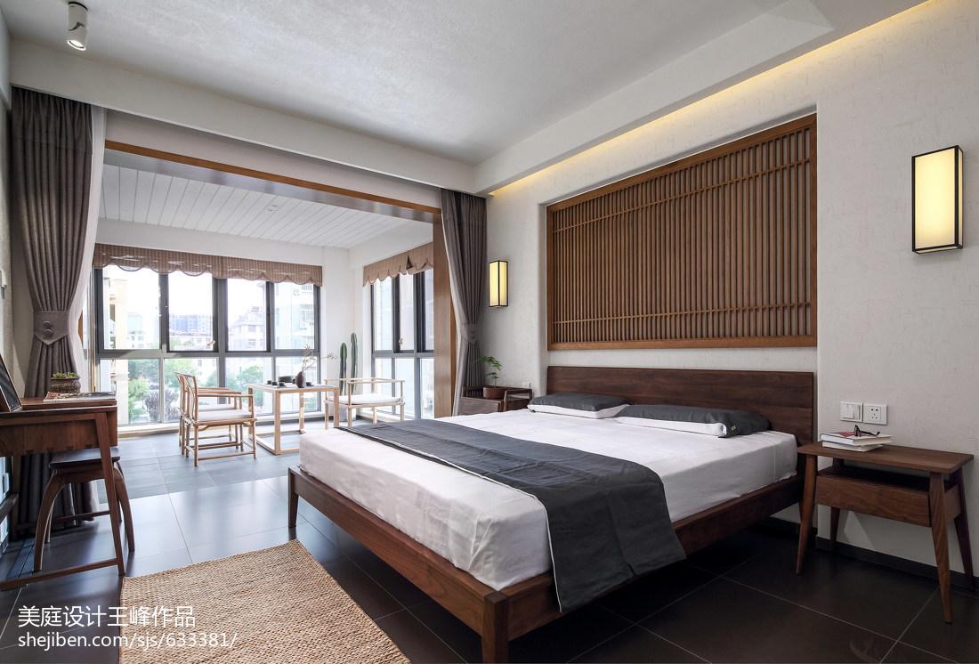精美面积103平中式三居卧室效果图片