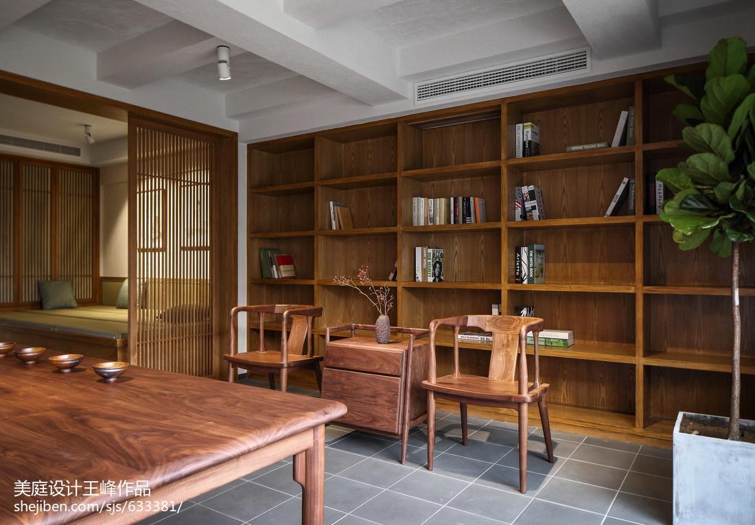 明亮112平中式三居书房装修图片