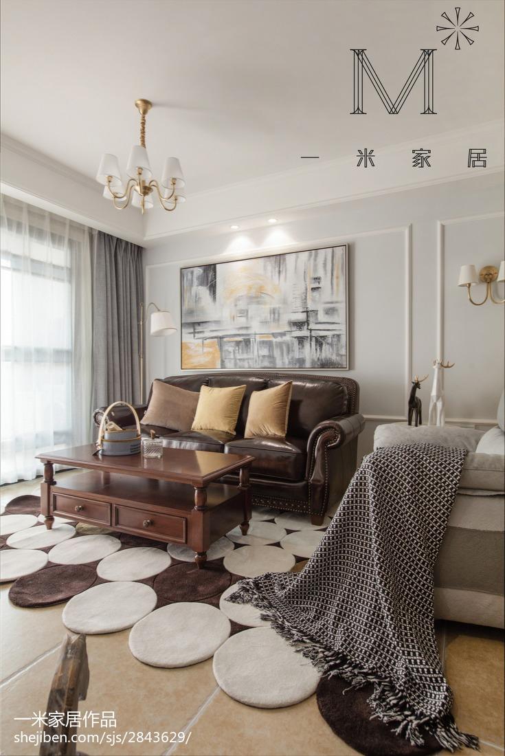 精美96平米三居客厅美式装饰图片大全