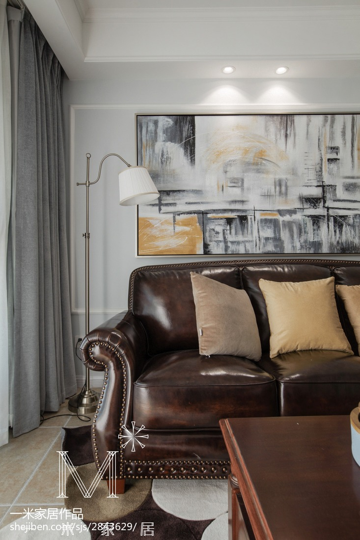 201891平米三居客厅美式装修图