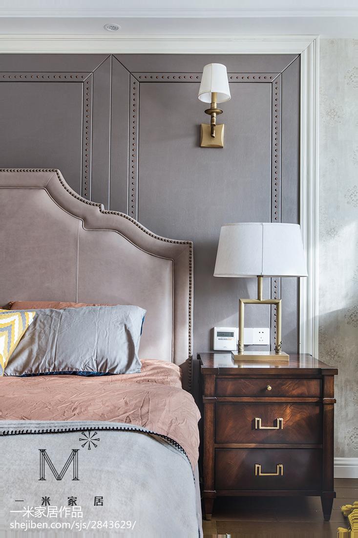 热门109平米三居卧室美式实景图片