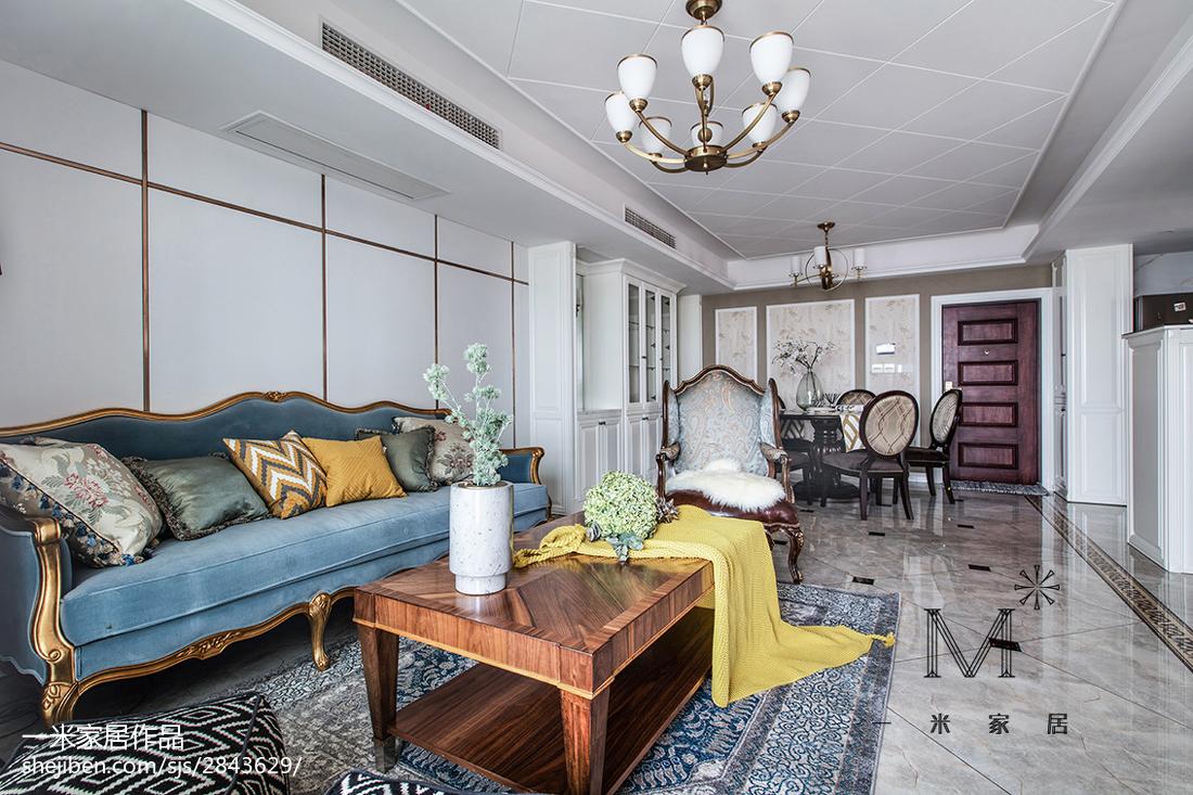 精选大小93平美式三居客厅装修设计效果图片大全