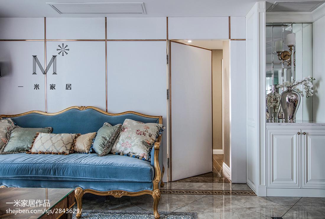 精美面积90平美式三居客厅欣赏图