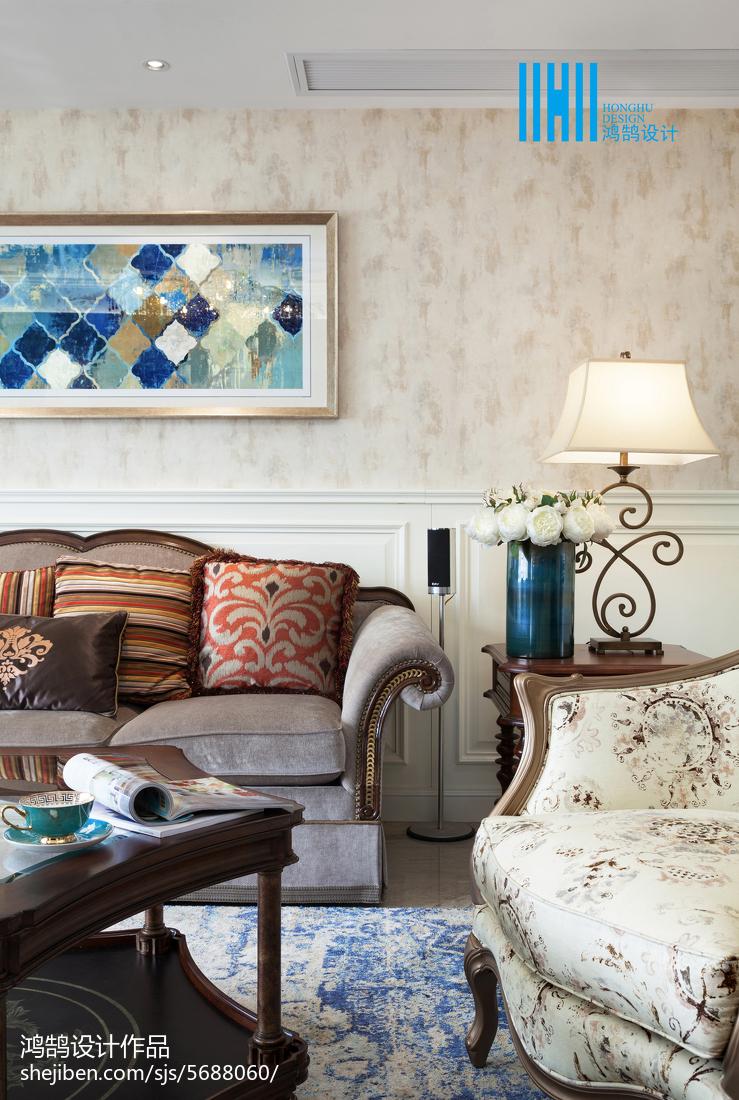 精選面積133平別墅客廳美式效果圖片大全
