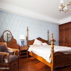 精美面积125平别墅卧室美式欣赏图片