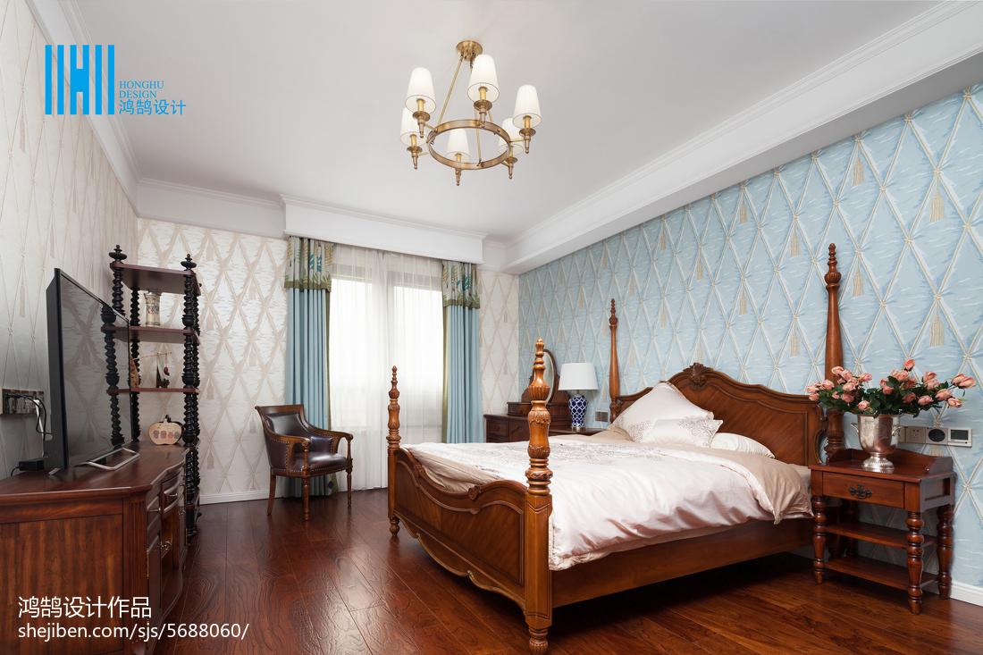 面積138平別墅臥室美式裝修設計效果圖片