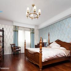 面积138平别墅卧室美式装修设计效果图片