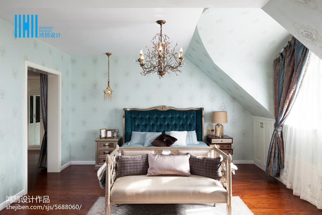 2018面积142平别墅卧室美式装修设计效果图