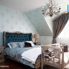 精选120平米美式别墅卧室实景图片大全