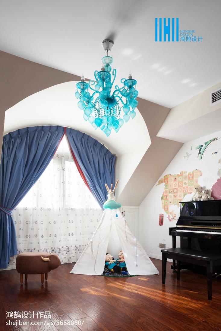 2018精选面积140平别墅卧室美式装修实景图
