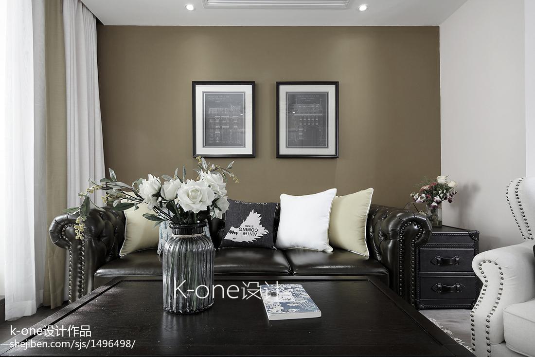 大气60平美式二居客厅装修图