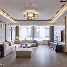 热门面积117平中式四居客厅欣赏图片大全