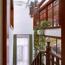 中式四居室楼梯装修